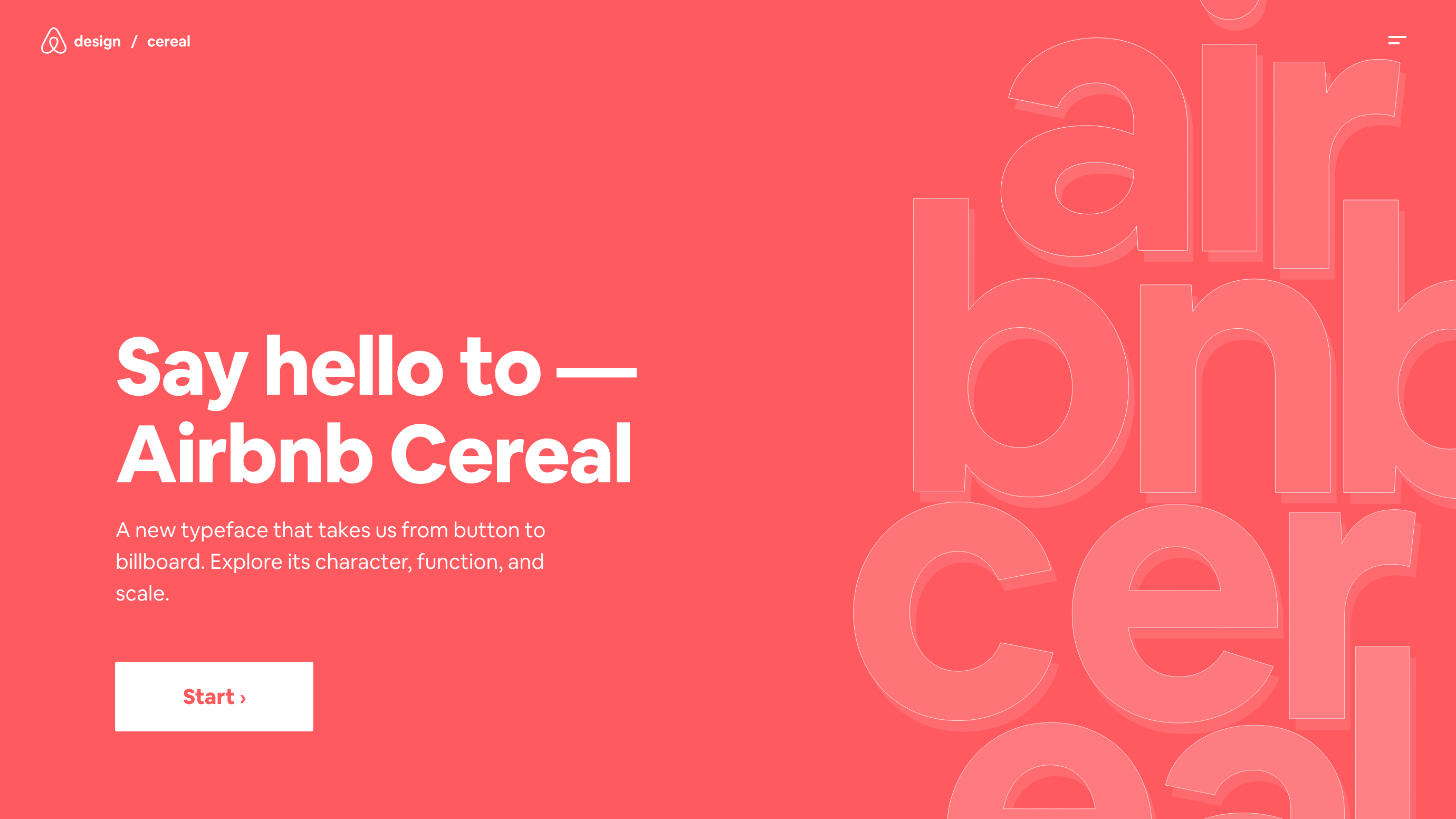 Airbnb Cereal site