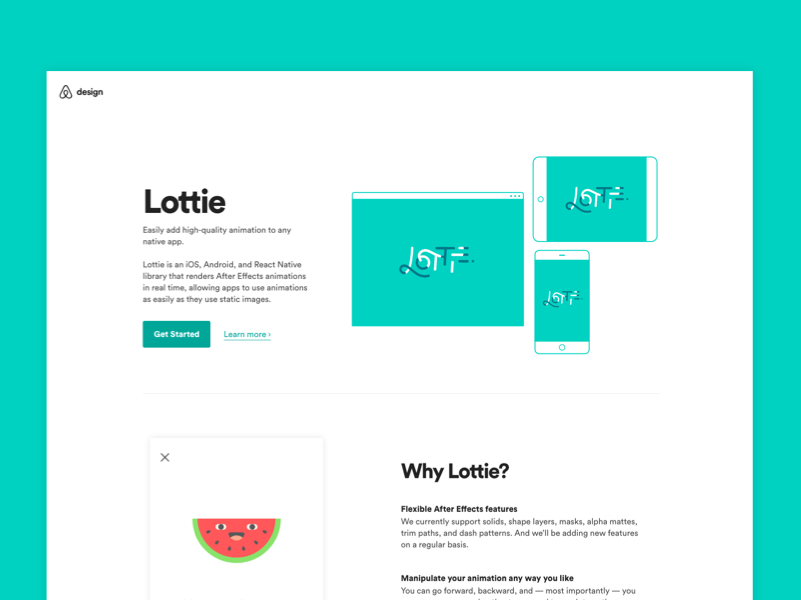Lottie, Airbnb's library for animations